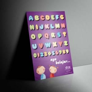 mock up desain Poster Belajar 5