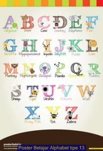Poster Belajar Alphabet Tipe 13