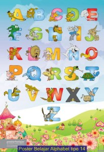 Bisnis Sampingan Poster Belajar Alphabet Tipe 14