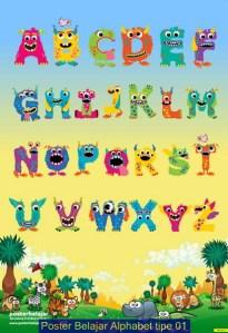 Poster Belajar Alphabet tipe 01