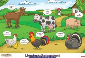 peluang bisnis 2015 Poster Belajar Binatang Tipe 03