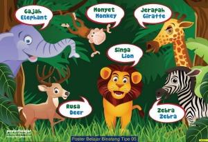 Poster Belajar Binatang Tipe 05