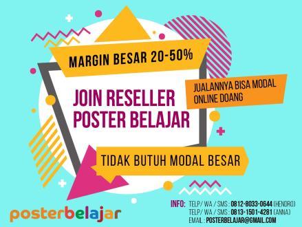peluang bisnis reseller dropshipping poster belajar
