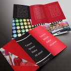 download gratis inspirasi contoh desain design brosur company profile profil 24