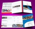 untuk download gratis inspirasi contoh desain design brosur company profile profil 24