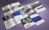 untuk download gratis inspirasi contoh desain design brosur company profile profil 26