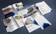 untuk download gratis inspirasi contoh desain design brosur company profile profil 28