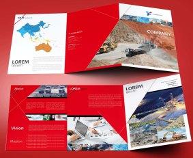 untuk download gratis inspirasi contoh desain design brosur company profile profil 9
